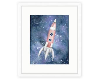 Galaxy Rocket Print