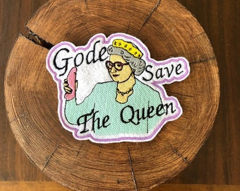 Gode save the queen patch/ecusson trash NSFW