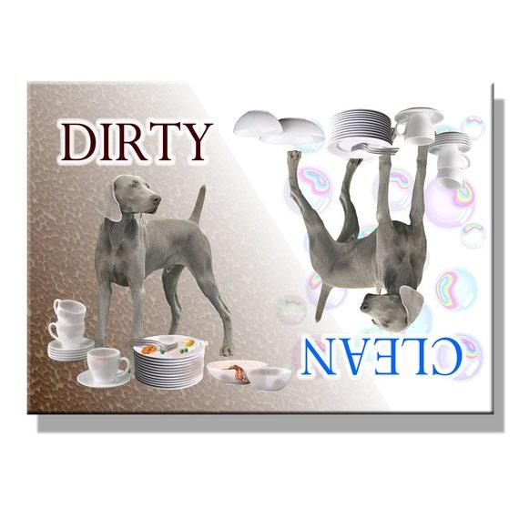 Weimaraner Clean Dirty Dishwasher Magnet