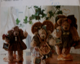 "Simplicity 7000 Stuffed Bear and Clothes Sewing Pattern Uncut Size 12"" Bear"