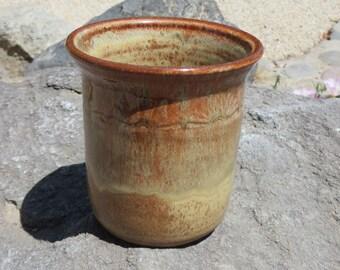 Stoneware Pottery Utensil Holder, Utensil Crock, Kitchen Storage, Spoon Holder, Hand Made Pottery, Stoneware Pottery, Ceramic Pottery