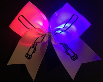 Star Wars Inspired Lightsaber Cheer Bow - High Quality