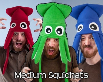 Medium Fleece Squid Hat - Many Colors