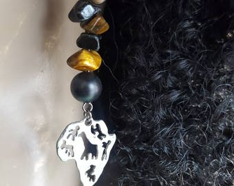 Africa- inspired crystal dangle earrings