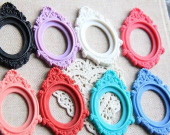 12 pcs of reasin mounting setting for 30x40mm cameo you can choose the color