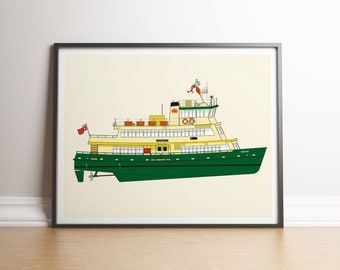 Sydney Harbour Ferry Illustration