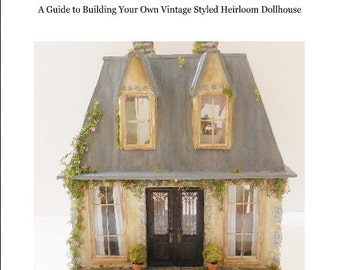 PDF  French Style Mansard Roof Dollhouse How To PDF