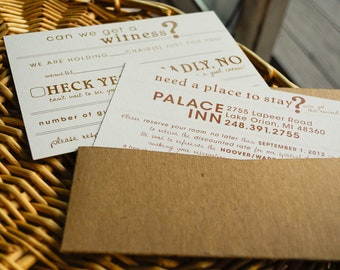 5x7 POCKET FOLDERS for Wedding Invitation Suites SAMPLE