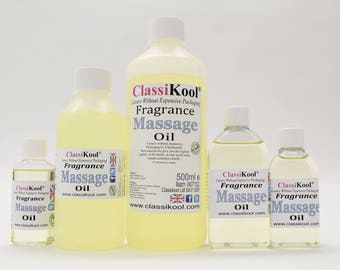 Classikool Fragrance Massage Oil: Choice of Fragrance / Essential Oils