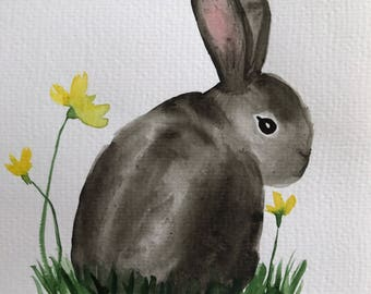 Bunny Rabbit Nursery Art