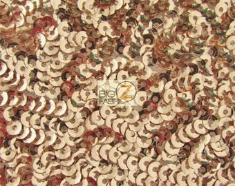 Scale Seaweed Sequins Mesh Fabric - ROSE GOLD - By The Yard Evening Dress Decor Prom Fish Sequins Shiny