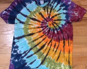 Adult tie dye t- shirt- large