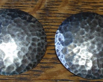 Vintage Hammered 800 Silver Earrings