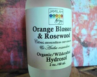 Orange Blossom & Rosewood Hydrosol   Dry Skin   Revitalize Skin   Improve Sluggish Skin   100% Organic   Face Toner   Neroli   Skin Care