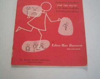 Vintage Book Three Music Book for the Piano A Dozen