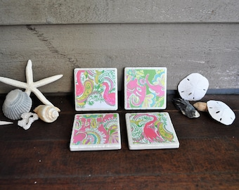 Mixed Lilly Pulitzer coaster set