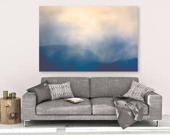 "large canvas wall art, large wall art, large colorful landscape wall art, large landscape, large art, mountain landscape -""Beartooths Storm"""