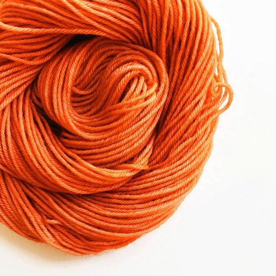 PUMPKIN SPICE hand dyed yarn