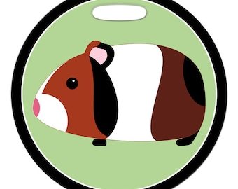 Luggage Tag - Guinea Pig - 2.5 inch or 4 Inch Round Plastic Bag Tag