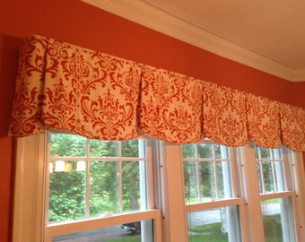 """Custom Wide Width Valance PEYTON Hidden Rod Pocket® Valance fits 87""""- 106"""" window Made with your fabric, Includes LABOR and LINING"""