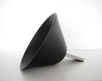 Big size Black Ceramic Speaker for iPhone. Decorative speaker for iPhone done with clay and glalzed in black.