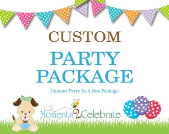 SALE 40% off - Complete Kids Birthday Party Package, Party-in-a-Box, Party Package, Birthday Party Decorations, Party Decor, Kids Birthday