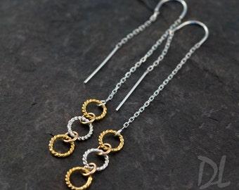 Gold Ear Thread Earrings - Ear Threader Earrings - Minimal Jewelry - Long Gold Dangle Earring - Minimalist Jewelry