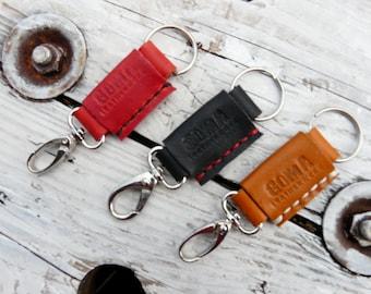 Leather key chain keychain