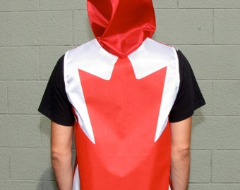 Canadian Flag Hoodie - Canada - handmade mens hoodie - zippered - mens shirt- mens clothing- jacket - upcycled clothing - windbreaker