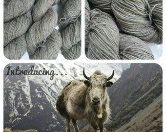 Yak Sock in Natural. 437 Yards. Ready to Ship.