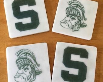 Michigan State Coasters set of 4