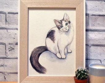 Custom Pet Portrait // Watercolour // A4 // Unique Gift