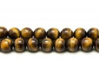 Tiger's eye beads 4 mm wire