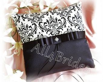 Damask weddings ring bearer pillow, madison damask wedding ring cushion