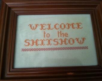 Sassy Cross Stitch in Frame