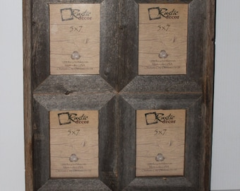 Rustic Barn Wood Window Frame (Holds 4-5x7 Pictures)