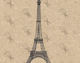 Antique image Eiffel Tower picture Instant Download printable Vintage clipart digital graphic for scrapbooking,decor, t-shirts etc HQ 300dpi
