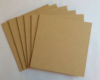 Pack of Six 150mm Square MDF Coasters