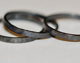 Hammered Stacking Ring - Stackable Bands