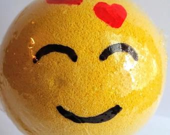 Emoji Bath Bomb/Bath Bomb with Message/Smiley Bath Bomb/Birthday Gift/Gift Ideas/Foamy Bath Bomb