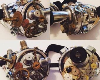 steampunk goggels clockwork ocular goggles gears