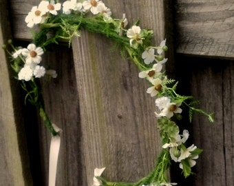 Wildflower Halo Barn Weddings Bridal Floral Crown Fairy Tale hair wreath Wedding flowers accessories mini daisy halo Aussie vine Montecasino