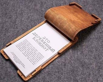 "Vector plan ""Wooden notebook"" for cnc - woodwork - diy - cdr (digital download) - for branding"