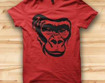 Monkey Face // Mens Tshirt // Animal Tshirt // Animal Clothing // Animal Clothes // Funny T Shirt // Mens Graphic Tee