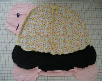 Baby Rag Blankets - Turtle, Snail, or Butterfly - ready to mail or custom made