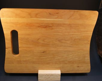 Handmade Notebook Shaped Cutting Board made of Hardwood Cherry Lumber