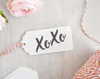 XOXO Stamp | Hugs and Kisses - Love Stamp - Heart Stamp - Happy Valentines Day - Wedding Stamp - Romantic Sentiment