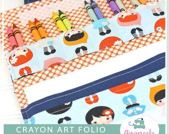 Crayon Holder PDF DIY Sewing Pattern and Bonus Mini Crayon Holder