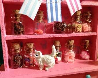 1:12 Dollhouse Kitchen Bakery Goodie Treat Cookie Candy Jars Bottles Set of 6