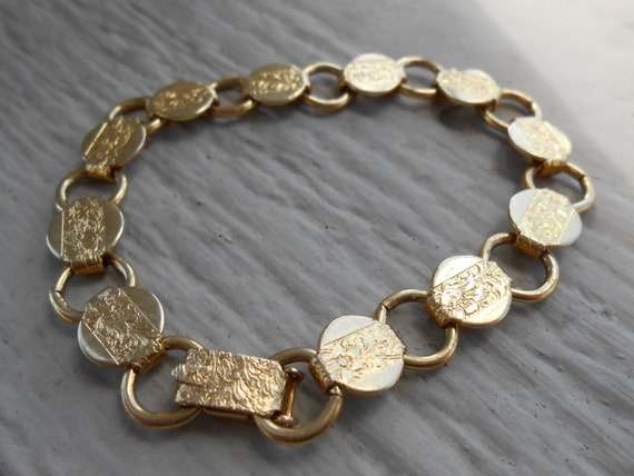 Vintage Gold Bracelet.  Mother's Day, Bridesmaid Gift, Anniversary, Birthday.